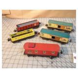 5pc Lionel PreWar Tin Train Cars