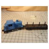 2pc Lionel Diesel Engine & Lumber Car w/Boxes