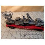 Lionel Military Transport Flat Car & Trucks