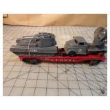 Lionel Military Transport Flat Car, Truck & Tank