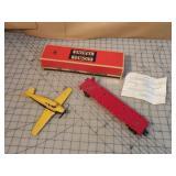 Lionel Flat Car w/ Airplane & Original Box