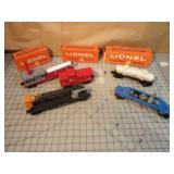 5pc Lionel Mercury Rocket Cars (some w/Boxes)