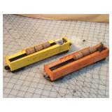 2pc Lionel Operating Barrel Cars