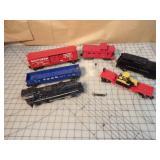 Lionel 6pcs - Steam engine, tender & cars