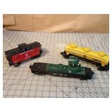 Lionel 3pcs - Tanker, caboose & spotlight car