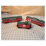 Lionel 3pcs - North pole central christmas cars