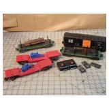 Lionel 6pcs - boxcar, log cars & rocker cars