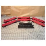 Lionel 7pcs - Flat cars & bridge parts