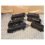 Lionel 6pcs - Steam engines & tenders