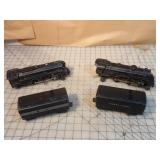 Lionel 4pcs - 2 locomotives & 2 tenders