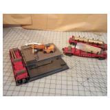 4pc Lionel Lumber Yard Cars & Platform