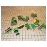 13pc John Deere Ertl & Other Toy Farm Equipment
