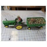 Ertl Cast John Deere 50 w/ Farmer & Corn Wagon