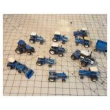 12pc Small Model Ford & New Holland Equipment