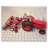 Ertl McCormick WD9 Tractor w/ Disc, Elery & Somkey