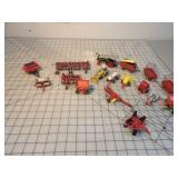 17pc Small Model Implements, Steam Engines, Etc