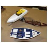 3pc Boat & Canoe Toys