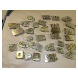 30pc Solid Brass Belt Buckle Group
