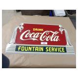 Coca-Cola Fountain Service Tin Wall Sign