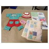 Vintage Doll Clothes and Mini Quilts