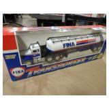Fina Die Cast Tanker Transporter w/Box