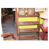 Antique 4 Tier Wood Shelf