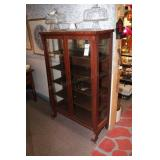5 Shelf Curio Cabinet on Casters