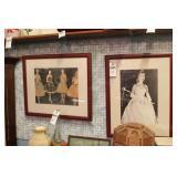 Framed Photos - Ladies cs 1950