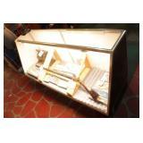 Glass Display Case W/Sliding Doors