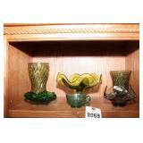 Green Glass - 6 Pc