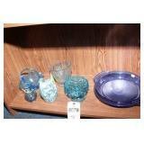 Blue Glass - 7 Pc