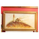 Oil n Canvas Lighthouse Painting