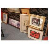 5 Pc Floral Framed Prints