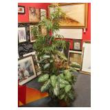 3 Large Silk Potted Plants
