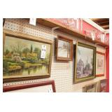 Framed Prints on Wall - 6 Pc