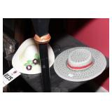 Ceramic Hat Wall Décor - 2 Pc