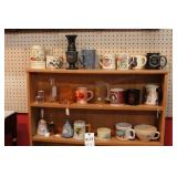 Mugs & Other on Top 3 Shelves - 23 Pc