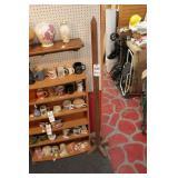 Wood Coat Rack (?) & 6 Shelf Unit