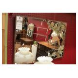 Wall Mirror W/Oink Flamingo Motif
