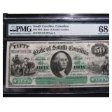 Lot of 2 PMG graded State of South Carolina Revenue Bond Scrips with same serial number