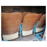 Vintage Teal Theater Seating