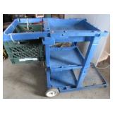 Blue Janitor Cart