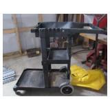 Black Janitorial Cart