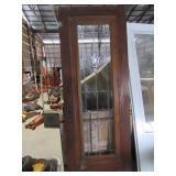Vintage Leaded Glass Door