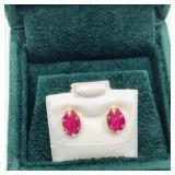 10K Ruby earrings