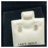 14k Diamond (.25cts) Earrings