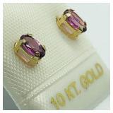 10k Garnet Earrings