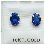 10k Tanzanite (1.6 ct) Earrings