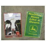 John Deere Milk Sign