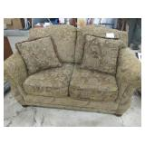 Olive Green Love Seat